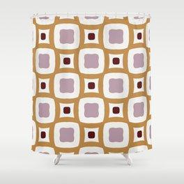Gothenburg modern geometric dark red and purple pattern Shower Curtain