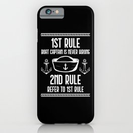 Funny Boat Captain Humor Sailing addicted Husband iPhone Case