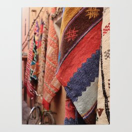 Rugs in Marrakech | Pattern Design | Travel photography | Fine Art | Photo Print |  Poster