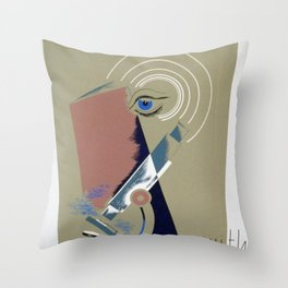 Keeping Up With Science 1930's Throw Pillow