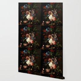 "Ernst Stuven ""Still life of flowers"" Wallpaper"