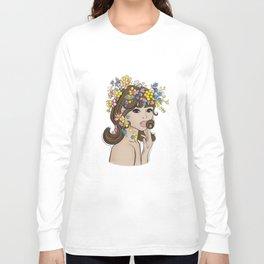 Jean Shrimpton Vogue 1965 Long Sleeve T-shirt