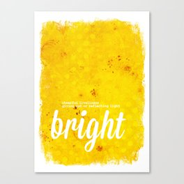 Bright Yellow - The Power of Color Canvas Print