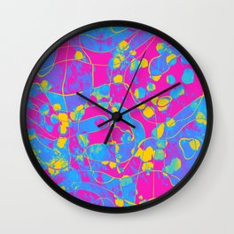 Pansexual Pride Abstract Dots and Swirls Wall Clock