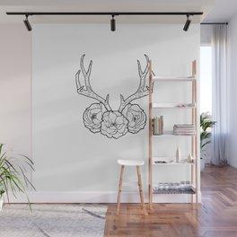 Deer vs Flowers Wall Mural