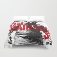 texas Duvet Covers featuring TEXAS CHAINSAW by Maioriz Home