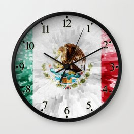 Extruded Flag of Mexico Wall Clock