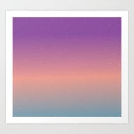 Starry Ombre Sky Gradient Pattern 4 Art Print