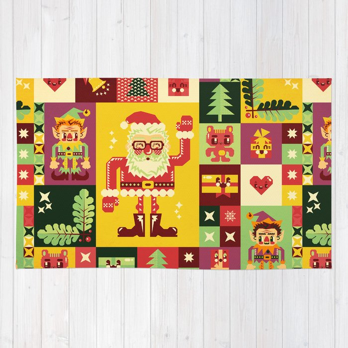 Christmas Geometric Pattern No. 1 Rug