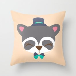 Raton laveur - Collection Dandynimo's - Throw Pillow