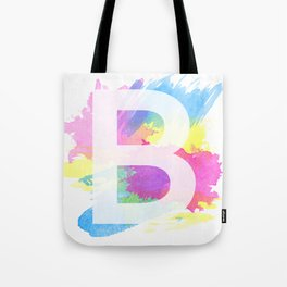 Lettering B - Typography Tote Bag