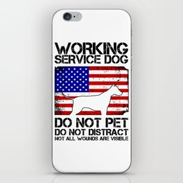 PTSD Awareness Service Dog Remember Everyone Served iPhone Skin