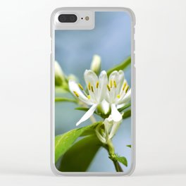 Floral Honeysuckle Clear iPhone Case