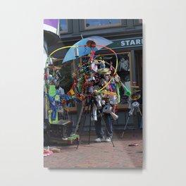 Harvard Square Busker Metal Print
