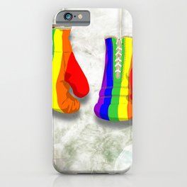 Rainbow fight iPhone Case