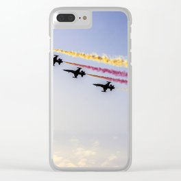 Turkish acrobatic aviation squadron flying over Izmir (Turkey) Clear iPhone Case