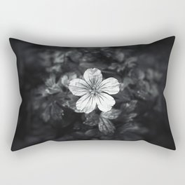 Minimalistic black and white flower petal Rectangular Pillow