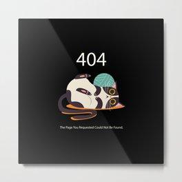 Funny Cat Error 404 Metal Print