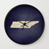 nashville Wall Clocks featuring Nashville, Tennessee by Fercute