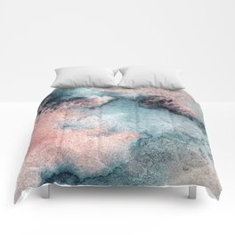 Pink and Blue Oasis Comforters