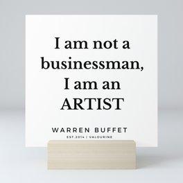 43   | Warren Buffett Quotes | 190823 Mini Art Print