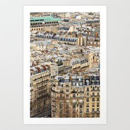 Parisian Rooftops Art Print