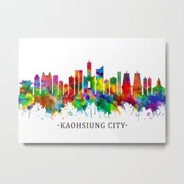 Kaohsiung City Taiwan Skyline Metal Print