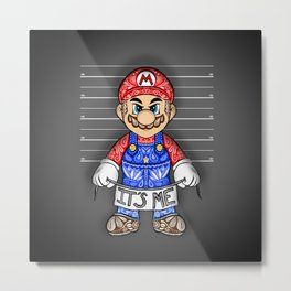 It's ME, Evil Mario !  Metal Print