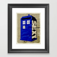 Minimalist Doctor Who  - SEXY TARDIS Framed Art Print