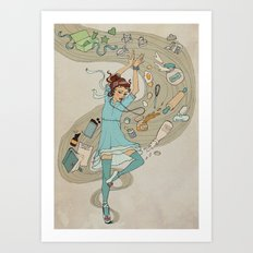 Dance of the Cookie Fairy Art Print