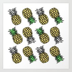 pineapple clear Art Print