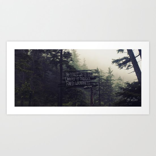 Forest Universe Art Print