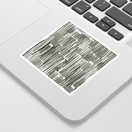 Simply Bamboo Brushstroke Green Tea on Lunar Gray Sticker