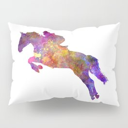 Horse show 07 in watercolor Pillow Sham