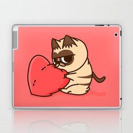 GrumpyCat in love hug Valentine's Day Laptop & iPad Skin