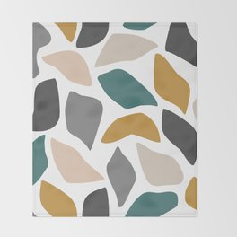 Abstract print in natural earth tones Throw Blanket