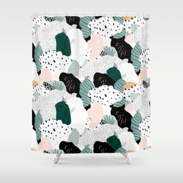 Leafy camouflage - pastel Shower Curtain