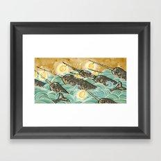 Narwhals! Framed Art Print