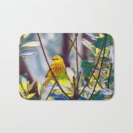Sweet Yellow Warbler Bath Mat