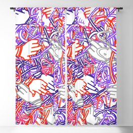 Funky Doodles Blackout Curtain