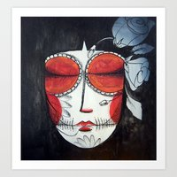Art Print featuring Santa muerte by Soloka