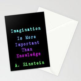 Albert Einstein- Knowledge and Imagination Stationery Cards