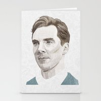 benedict Stationery Cards featuring Benedict Cumberbatch by Zaneta Antosik