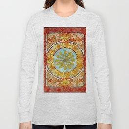 "Alphonse Mucha ""Pattern with leaves"" Long Sleeve T-shirt"
