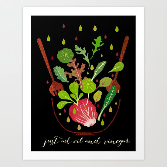 just ad oil and vinegar Art Print