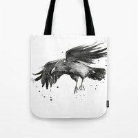 raven Tote Bags featuring Raven by Olechka