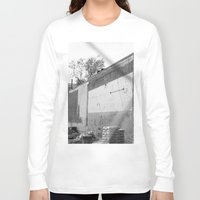 washington dc Long Sleeve T-shirts featuring Construction site and fence Washington, DC by RMK Photography