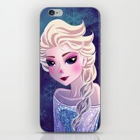 frozen elsa iPhone & iPod Skins featuring Elsa Frozen by Kaori