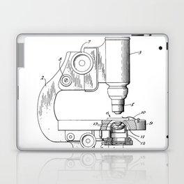 Microscope Patent - Scientist Art - Black And White Laptop & iPad Skin