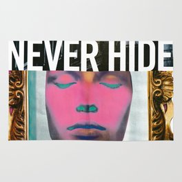 Never Hide Handmade collage Rug